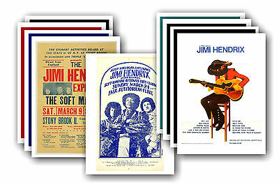 JIMI HENDRIX  - 10 promotional posters - collectable postcard set # 2