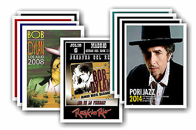 BOB DYLAN  - 10 promotional posters - collectable postcard set # 1