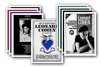 LEONARD COHEN  - 10 promotional posters - collectable postcard set # 1