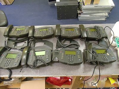 Lot of (8) Polycom SoundPoint IP 501 SIP Digital Phones w/ handsets & (4) stands