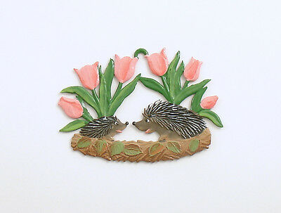 Hedgehogs Tulips Ornament Decoration Germany