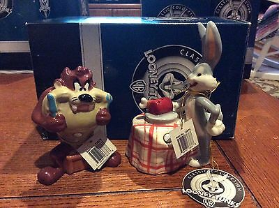 Tasmanian Devil and Bugs Bunny Salt and Pepper Shaker