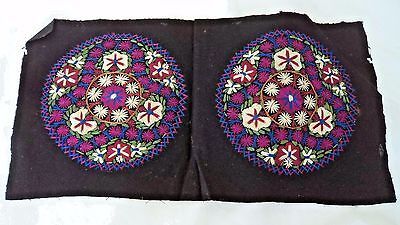ANTIQUE c1900 CHINESE? CIRCULAR EMBROIDERY / STITCH WORK