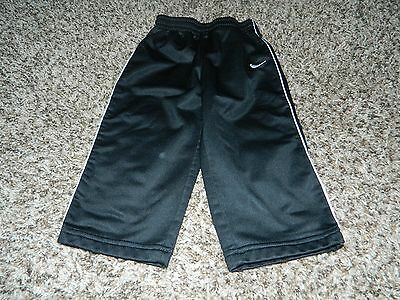 Nike Infant Boys Athletic Pants, Black With White Stripe Size 18 M Months