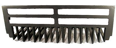 Antique Art Deco Cast Iron Superior Whale Bone Fire Place Grate For Surround