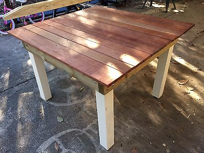 Outdoor Square table Timber Merbau wood Large solid and simple *free delivery*