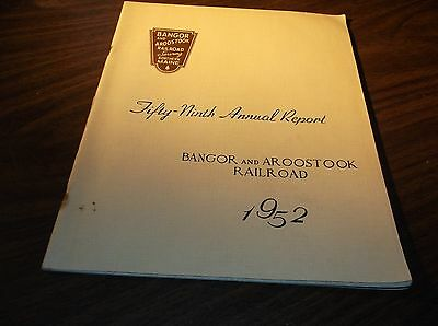 1952 Bangor And Aroostook Railroad Company Annual Report