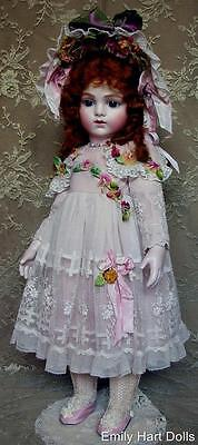 Bru jne 14 French Bebe porcelain doll in Antique laces costume