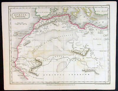1829 Sydney Hall Antique Map of West & Central Africa