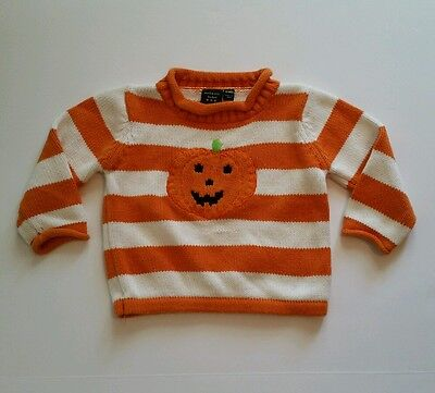 Unisex Infant Halloween Pumpkin Sweater by Authentic Kids size 12 months