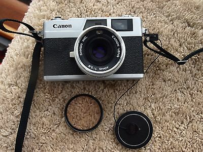 Vintage Canon Canonet 28 35 mm Film Camera with 40 mm f2.8 Lens - Very Nice