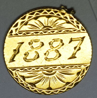 "$1.00 US Gold "" 1887  "" Love Token 80998"