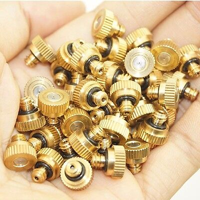 "For Cooling System 0.012"" 10/24 UNC Brass Misting Nozzles water mister Sprinkle"