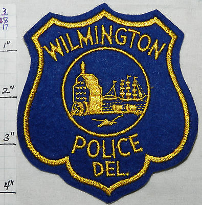 Delaware, Wilmington Police Dept Felt Vintage Patch