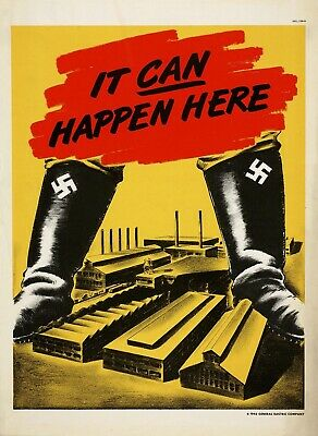 IT CAN HAPPEN HERE World War 2 Giclee Fine Art Poster Reproduction 24x32