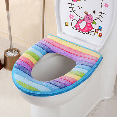Bathroom Warmer Toilet Washable Soft Pad Seat Closestool Cover WC Cushion Case