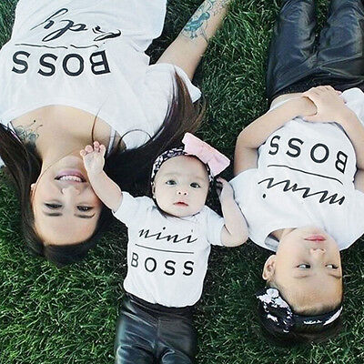 Family Top Clothing Mother Parent-Child Daughter Son T-shirt Matching Outfit New