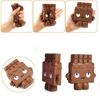 13cm Slow Rising Cartoon Chocolate  Squishy Soft kids Fun Toy Ballchains Collect