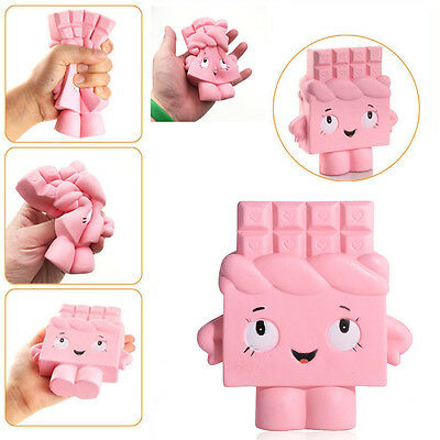 13cm Slow Rising Cartoon pink kids  Squishy Soft Fun Toy Ballchains Collect gift