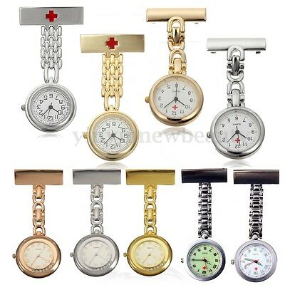 Stainless Steel Nurse Watch Tunic Fob Nursing Pendant Clip Pocket Quartz Watch