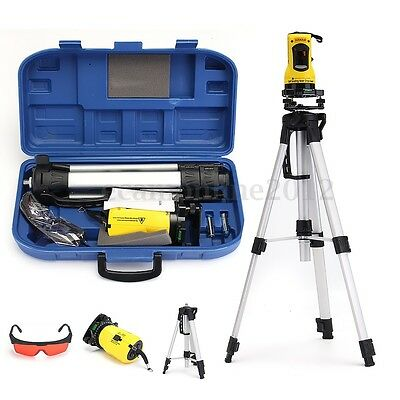Self Leveling Rotary Rotating Laser Level Red Beam Cross Line With Tripod Stand