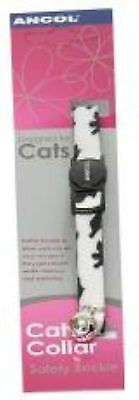 Camouflage Cat Collar with safety buckle blk&White Black/White Camouflage