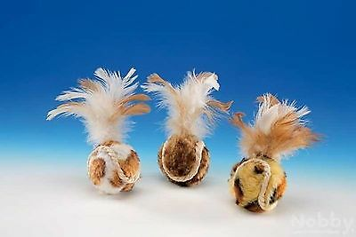 Nobby Plush Balls with Feather