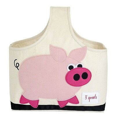 3 Sprouts Storage Caddy Pig - Rose