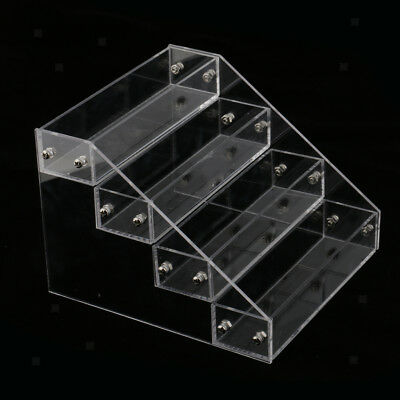 4 Tiers Acrylic Nail Polish Varnish Display Stand Organizer Lip Stick Holder