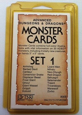 AD&D Dungeons & Dragons Monster Cards SET 1 by TSR