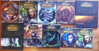 Lot 10 Books WOW World of Warcraft - 2 Atlas and 8 Strategy Guides by Bradygames
