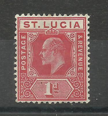 St. Lucia 1904/10 Sg 67, 1d carmine, Lightly Mounted Mint,[459]