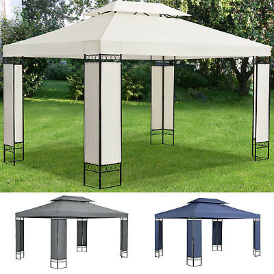 pavillon metall gartenpavillon pavillion burma 300cm rund wasserdicht wei eur 319 98. Black Bedroom Furniture Sets. Home Design Ideas