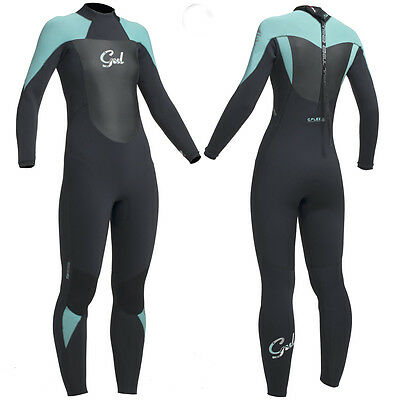 Gul Ladies 5/3Mm Response Wetsuit Surfing Black Pistachio Surf Swim 5Mm Neoprene