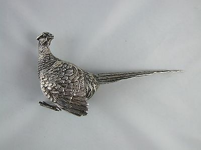Antique Sterling Silver Table Pheasant English Hallmarks London As Is