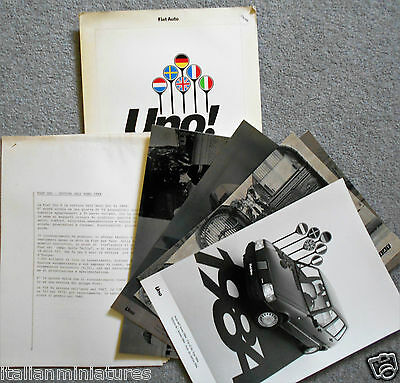 Fiat Uno Car of the Year 1984 Press Pack Photograph x 6 Italian Language