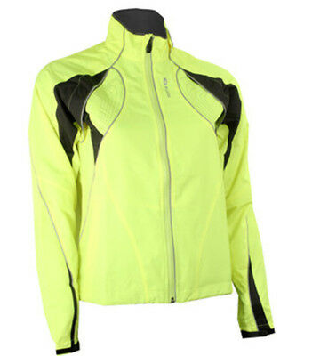 Sugoi Versa 616 Womens Two In One Bike Jacket And Vest Supernova Yellow Small