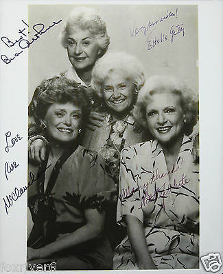 'THE GOLDEN GIRLS' Cast Signed Photograph - TV Stars / Actresses preprint