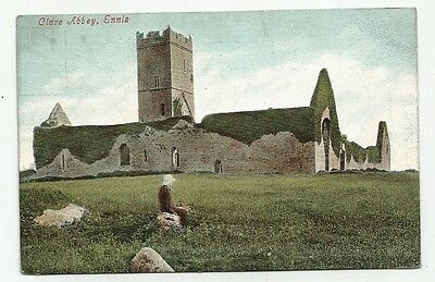 k irish postcard ireland clare abbey  ennis