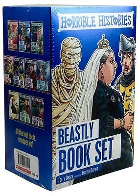 Horrible Histories Collection 10 Children Beastly Books Set Easy History