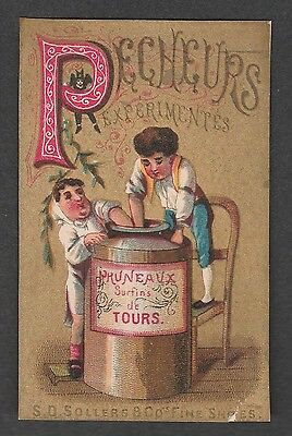 """Victorian Trade Card S.d. Sollers Shoes Alphabet """"p"""""""