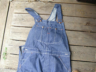 New Old Stock Sears Denim Overalls Size W 36 L34