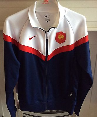 France  TRACK TOP EUGENE CHEVRON NIKE RUGBY  SIZE ADULT S