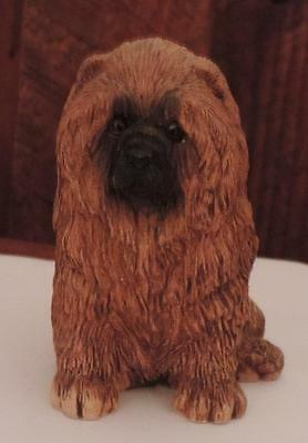 "Vintage Red Chow Chow Figurine  Marked ""G"""