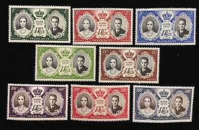 The 1956 Monaco Stamp Set Of Wedding Of Grace Kelly And Prince Rainier III