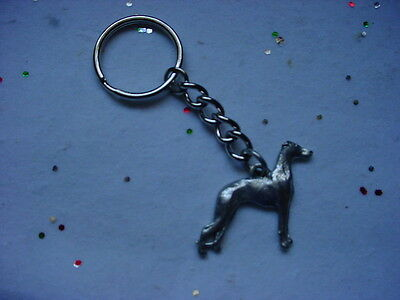 WHIPPET Dog PEWTER Silver KEYCHAIN Christmas ornament Key Chain Ring NEW puppy