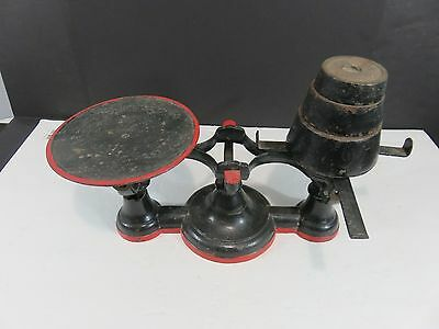 Vintage Cast Iron Mercantile Balance Scale with Weights