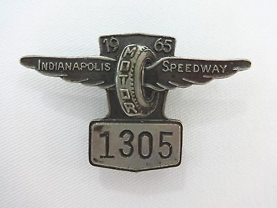 1965 Indianapolis 500 Silver Pit Badge Jim Clark Lotus powered by Ford IMS
