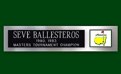 Seve Ballesteros Masters Champion Nameplate for Signed Flag Golf Ball Photo