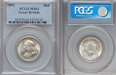 Great Britain, VICTORIA, 1837-1901, AR SHILLING, 1893, PCGS Certified MS63.